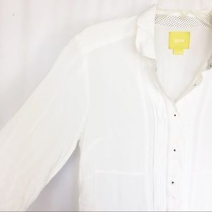 Anthro- Maeve white button up top 8